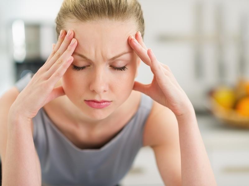 Jeune femme stresée