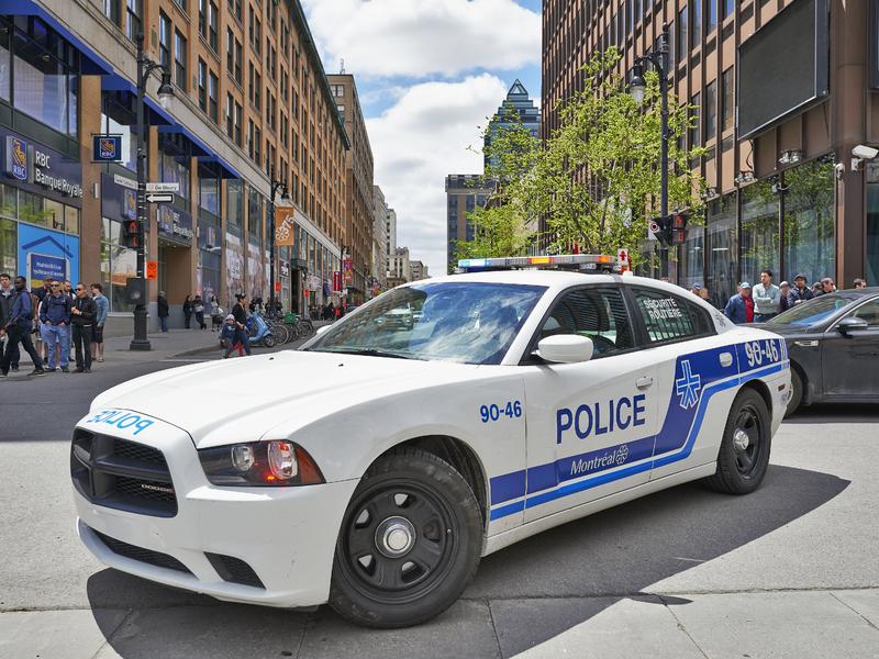 Voiture du Service de Police de la Ville de Montréal