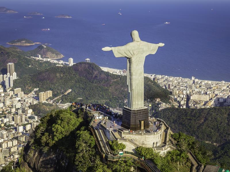 Statue du Christ Rédempteur à Rio de Janeiro au Brésil