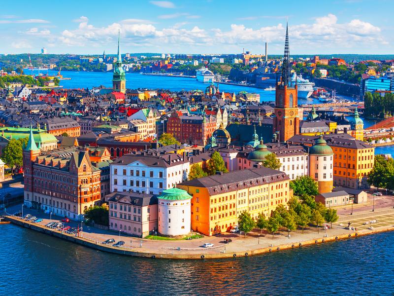 Vue panoramique de la vieille ville de Stockholm en Suède